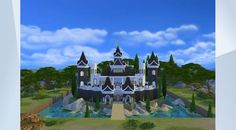 Check out this lot in The Sims 4 Gallery! - Check out my Youtube channel - SophSims - for speed builds and let's play's :) #nightwellcastle #castle #sophsims #grandhouse #largehouse #3bedroom #4bathroom #64x64