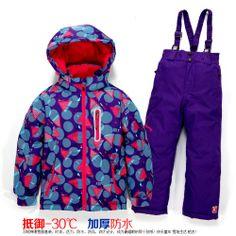 女童滑雪服套装冬 加厚儿童中大男童滑雪衣裤两件套防水防风保暖