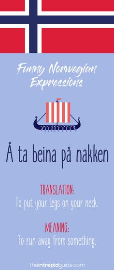 49 Hilarious Norwegian Idioms and Sayings That Will Make You Giggle – Gunn Marchant 49 Hilarious Norwegian Idioms and Sayings That Will Make You Giggle Norwegian Sayings and Idioms – Å ta beina på nakken Learning Languages Tips, Foreign Languages, Norway Language, Norwegian Words, Learn A New Language, Europe, Idioms, Family History, Good To Know