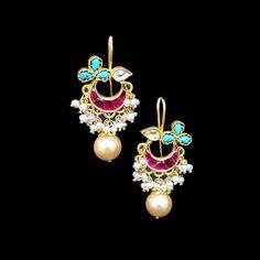 Uma Kundan Drop Earrings