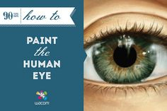 The eyes are the windows to the soul. Learn how to paint them with this tutorial on how to paint the human eye by Cat Reyto.