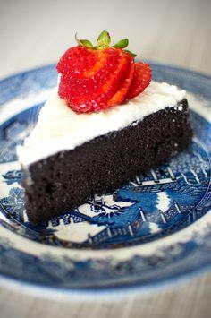 GF Black Bean Chocolate Cake