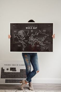 World Map, Periodic Table, Cursive Chart and Multiplication Table School Room Art Print Download from popular Florida lifestyle blogger, Tabitha Blue of Fresh Mommy Blog. Check out our new learning art prints for your walls! These textured farmhouse style art prints look super stylish framed on the wall, either along or as part of a wall art collage. - New Homeschool Art Prints for Your Walls featured by popular Florida life and style blogger Fresh Mommy Blog