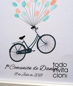cuadro huellas comunion bici