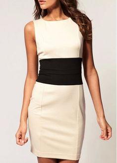 Woman Essential Sleeveless Round Neck White Sheath Dress