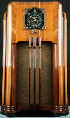 Zenith 1936-37 Wood Console Vacuum Tube Radio 8S154 -RESTORED, working | eBay