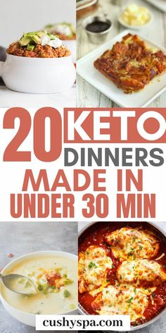 In 30 minutes you can make quite a few delicious keto meals. Try these ketogenic… In 30 minutes you can make quite a few delicious keto meals. Try these ketogenic dinners and cook these low carb in only under an hour. Keto Diet List, Starting Keto Diet, Ketogenic Diet Meal Plan, Diet Food List, Keto Meal Plan, Diet Meal Plans, Ketogenic Recipes, Diet Recipes, Diet Foods