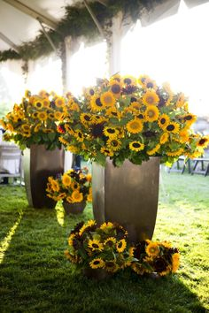 sunflower reception wedding flowers,  wedding decor, wedding flower centerpiece, wedding flower arrangement, add pic source on comment and we will update it. www.myfloweraffair.com can create this beautiful wedding flower look.
