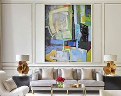 Original Painting Hand Made Large Abstract Art by CelineZiangArt