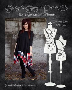 The Ginger Dress Women's Sizes PDF Sewing par GeorgeandGingerCo