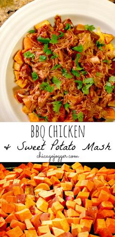 BBQ Chicken & Sweet Potato Mash - easy and perfect for a healthy dinner | chicagojogger.com