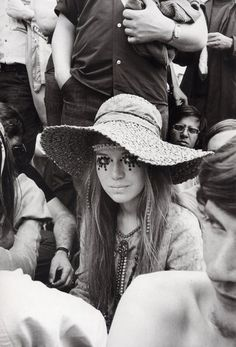 A Woodstock concert goer, 1969.  For more Woodstock inspiration, visit our blog:  http://www.whatgoesaroundnyc.com/blog/11456