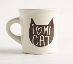 I heart my cat mug