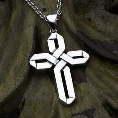 Wide Weave - Sterling Silver Contemporary Christian Cross Necklace Pendant David Daffer Designs  #daviddafferdesigns Dog Tag Necklace, Arrow Necklace, Pendant Necklace, Jewelry Rings, Silver Jewelry, Sterling Silver Cross, Cross Pendant, Ring Designs, Weave