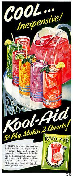 Kool Aid | 5 cents two quarts! | #vintage #retro #ad