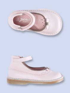 Jacadi Girls Mary Jane Shoe Mary jane style shoe Leather insole Perforated front with bow applique Contrast piping details Adjustable velcro closure at ankle Durable rubber outsole Material: Leather, Rubber Brand: Jacadi Origin: Imported Jacadi, Mary Jane Shoes, Baby Girl Fashion, Sweet Girls, Girl Style, Leather Shoes, Mary Janes, Fashion Shoes, Creations