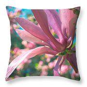 Mellow Magnolia Blossom Throw Pillow by Anna Porter