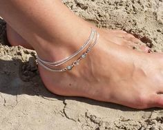 Hey, I found this really awesome Etsy listing at https://www.etsy.com/listing/199803451/double-wrap-anklet-silver-plated-with