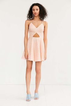 7586221e177d Kimchi Blue Cutout Lace Fit + Flare Dress
