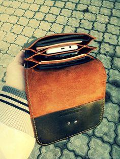 Bag for men- Мужские сумки ручной работы. Leather Belt Pouch, Handmade Leather Wallet, Handmade Bags, Leather Purses, Leather Backpack, Minimalist Leather Wallet, Wallets For Women Leather, Leather Projects, Leather Accessories