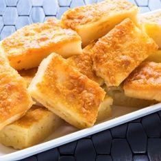 Ono Butter Mochi Japanese Dessert Recipe with monchiko sweet rice flour, sugar, . Coconut Desserts, Asian Desserts, Coconut Recipes, Just Desserts, Delicious Desserts, Coconut Milk, Coconut Cream, Almond Milk, Hawaiian Dessert Recipes