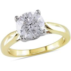 Miabella 2 Carat T.W. Certified Diamond 14kt Two-Tone Gold Solitaire Engagement Ring
