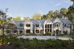 English Country Residence English Country Front Facade by Harrison Design Harrison Design, Large Windows, Interiores Design, Landscape Architecture, Curb Appeal, House Tours, Modern Farmhouse, Beautiful Homes, Country