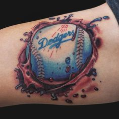 Jamie Parker - Baseball Tattoo