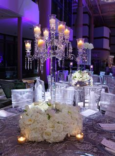 Wedding Table Arrangements | arms crystal candelabra candle holder for wedding table centerpieces ...