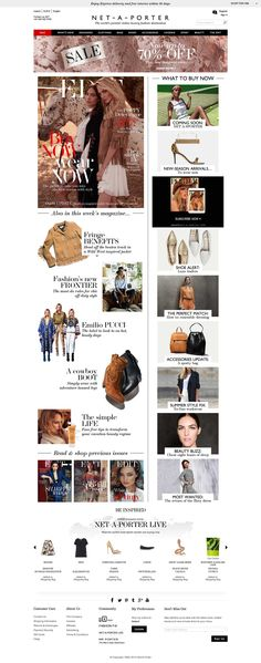 Top retailing websites - net-a-porter