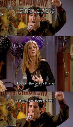Friends...gotta love Rachel always calling Ross out