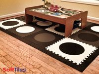 SoftTiles Die-Cut Circles Foam Tiles Play Mat