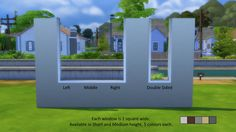 Mod The Sims - Faux Half-Wall Windows