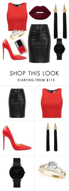 """5"" by anita-mykythak on Polyvore featuring мода, Alice + Olivia, Christian Louboutin, Yves Saint Laurent и CLUSE"