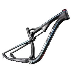 Mountain Bike Frames - ICAN 29er Carbon Fiber Tiral Bike Full Suspension Frame BSA 1551751921 Inch 1359mm and 14212mm Rear Hanger Interchangeable *** Continue to the product at the image link.