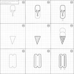 How to draw ice creams.