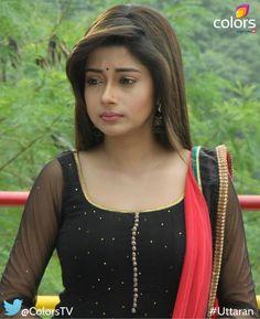 Tina Dutta in Black Salwar