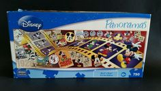 Mega Puzzles Disney Mickey Through the Years Ages Panorama 750 Piece Puzzle 2009 #Disney