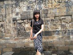 Kawung batik at Borobudur Temple