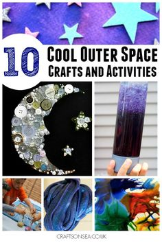 10 of the coolest outer space crafts for kids you'll find on the internet! Nourish your kids love of space with these awesome activities they'll love.