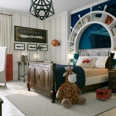 Travel-Themed-Kids-Room-With-Elegant-Modern-Decor