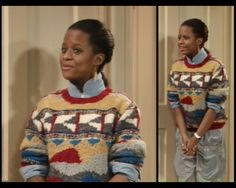 POTENTIAL OUTFIT #6 (SCENES 8) A little preppier shirt collar and sweater look for seeing her son off to college