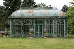 Victorian style metal conservatory, third quarter 20th century