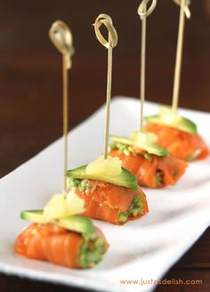 Avocado Smoked Salmon Bites | Community Post: 25 Appetizers That'll Make Your Holiday Party The Talk Of The Town