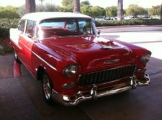 55 or 56 I think.  We had one just like this as well as the crown victoria ... cool cars for sure! by bertha