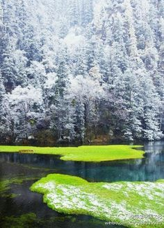 Winter, Jiuzhaigou, China