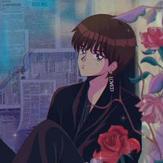 'BTS V - Singularity anime' by hanavbara Kpop Anime, 90 Anime, Anime Art, Aesthetic Anime, Aesthetic Art, Anime Style, Kawaii Anime, Desu Desu, Catty Noir