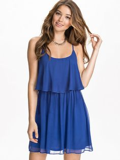Double Strap Dress - Nly Blush - Blue - Party Dresses - Clothing - Women - Nelly.com