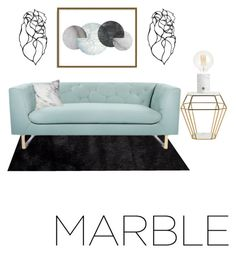 """""""Marble"""" by ricekel ❤ liked on Polyvore featuring interior, interiors, interior design, home, home decor, interior decorating, Safavieh, Nimbus, Art Addiction and marblehome"""