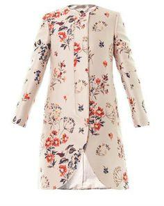 Stella McCartney The Lea wild flower-jacquard coat | #Chic Only #Glamour Always
